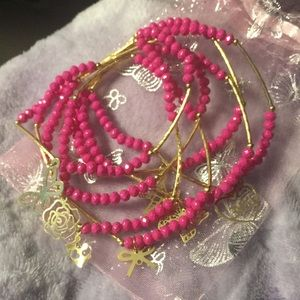 Jewelry - Artesanal Crystal w 18kt GoldPlated Charm Bracelet